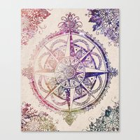 ornate Canvas Prints featuring Voyager II by Jenndalyn