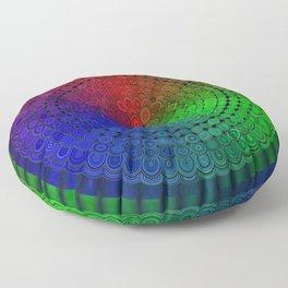 RGB Mandala Floor Pillow