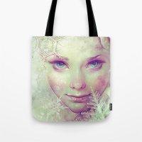 elsa Tote Bags featuring Elsa by Anna Dittmann