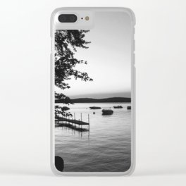 Lake Wentworth Black & White Clear iPhone Case