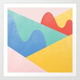 Mountains Bumps Art Print