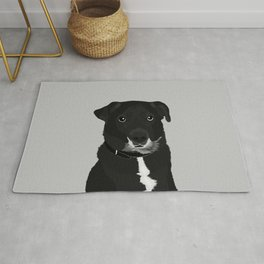 The Dashing Mixed-Breed Dog Rug
