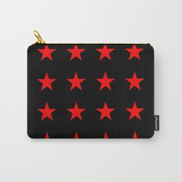 Red Stars on Black Carry-All Pouch