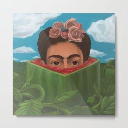 Frida Kahlo suprise Box Metal Print