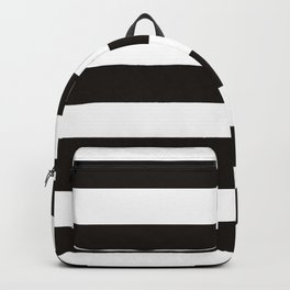 Black raspberry - solid color - white stripes pattern Backpack
