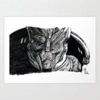 garrus Art Prints featuring Garrus by tattooeddragonfly