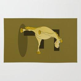 Pony Monogram Letter F Rug