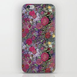 Project 52.1 | Roses on Purple and Pink Watercolor iPhone Skin