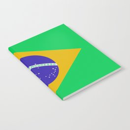 Brazil Flag (Patchwork Look) Notebook
