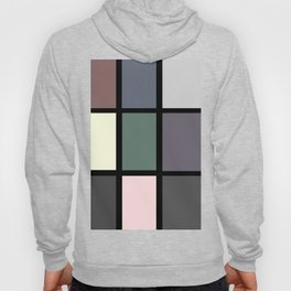 60s and 80s Inspired Retro Vintage Geometric Square Hoody