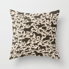 Horse a background Throw Pillow