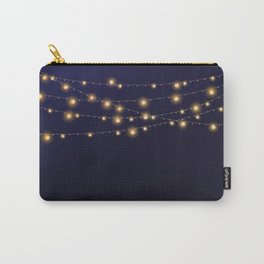 Modern string lights Carry-All Pouch