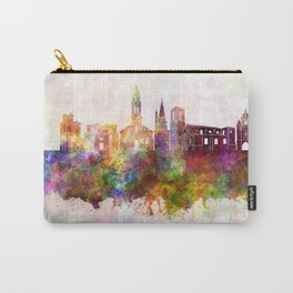 La Rochelle skyline in watercolor background Carry-All Pouch