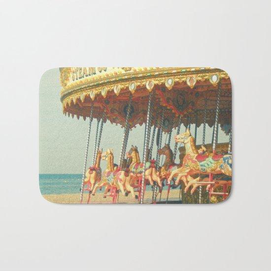 Seaside Carousel Bath Mat