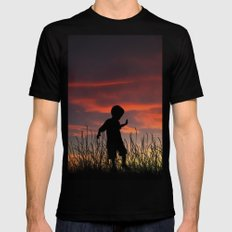 The Beginning of a Journey MEDIUM Black Mens Fitted Tee