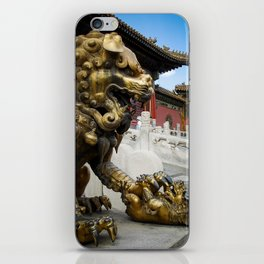 Mother Lion at the Forbidden City. iPhone Skin