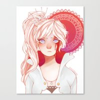 roosterteeth Canvas Prints featuring Weiss Schnee by ★ thiefofstars ★