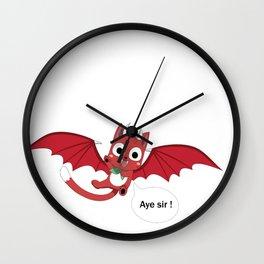 Happy The Red: Aye sir ! Wall Clock