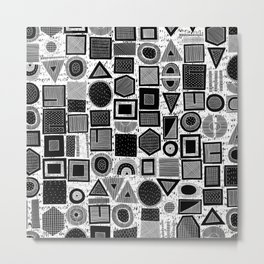 frisson memphis bw inverted Metal Print