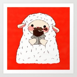 Chocolate Lamb Art Print