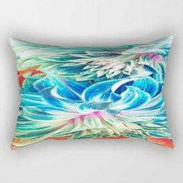 Lightblue Dalias Rectangular Pillow