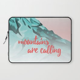 Mountains Are Calling Typography Design Laptop Sleeve