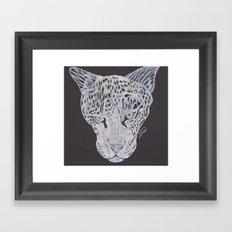 Leopard Gaze Framed Art Print