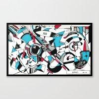 kandinsky Canvas Prints featuring KANDINSKY TRIBUTE by DavidePerroneDAHM