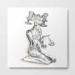 A woman as a sign Libra Metal Print