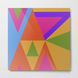 Triangle Rainbow Metal Print
