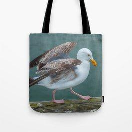 Walking Gull Tote Bag