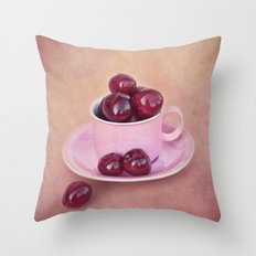 SUMMER CHERRIES Throw Pillow