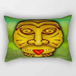 Tiki With Tongue Rectangular Pillow