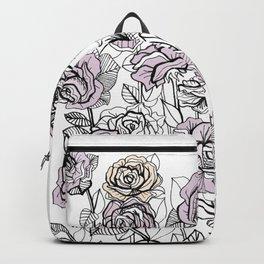 Rose Bush Drawing | Graphic Design Backpack