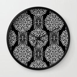 Damask pattern 23 Wall Clock