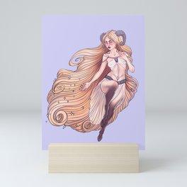 Aries Zodiac Sign - Gold Mini Art Print