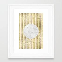 inverse gOld sun Framed Art Print