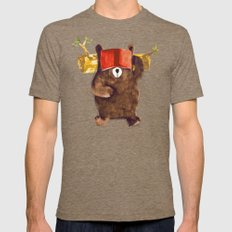 No Care Bear - My Sleepy Pet Tri-Coffee 2X-LARGE Mens Fitted Tee