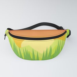 A warm summer morning immersed in nature, Geometric abstraction Fanny Pack