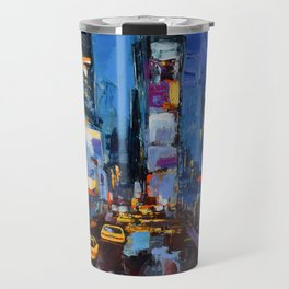 Saturday Night in Times Square Travel Mug