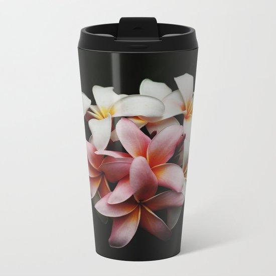 Flowers In The Dark Metal Travel Mug