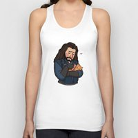 thorin Tank Tops featuring Thorin and Kitten by Hattie Hedgehog