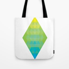 Yellow Cyan Diamond Gradient Tote Bag