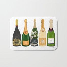 Champagne Bottles Bath Mat