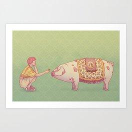 Signe du cochon Art Print