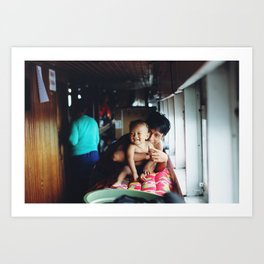 On the boat (Sulawesi, Indonesia) Art Print