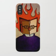 Prophets of Fiction - Ray Bradbury /Fahrenheit 451 iPhone X Slim Case