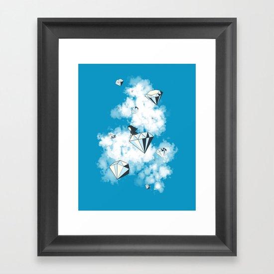 Like a Diamond in the Sky Framed Art Print