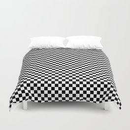 Black White Checks Minimalist Duvet Cover