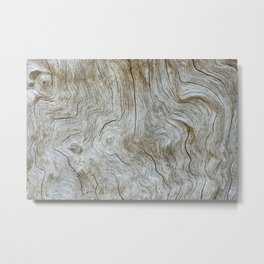 The Worn Wood Metal Print